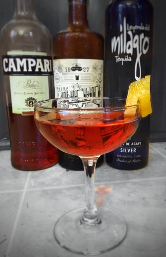 My own creation, Campari, Tequila, Ancho Reyes