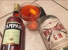 Homemade Negroni with Treaty Oak's Waterloo Gin